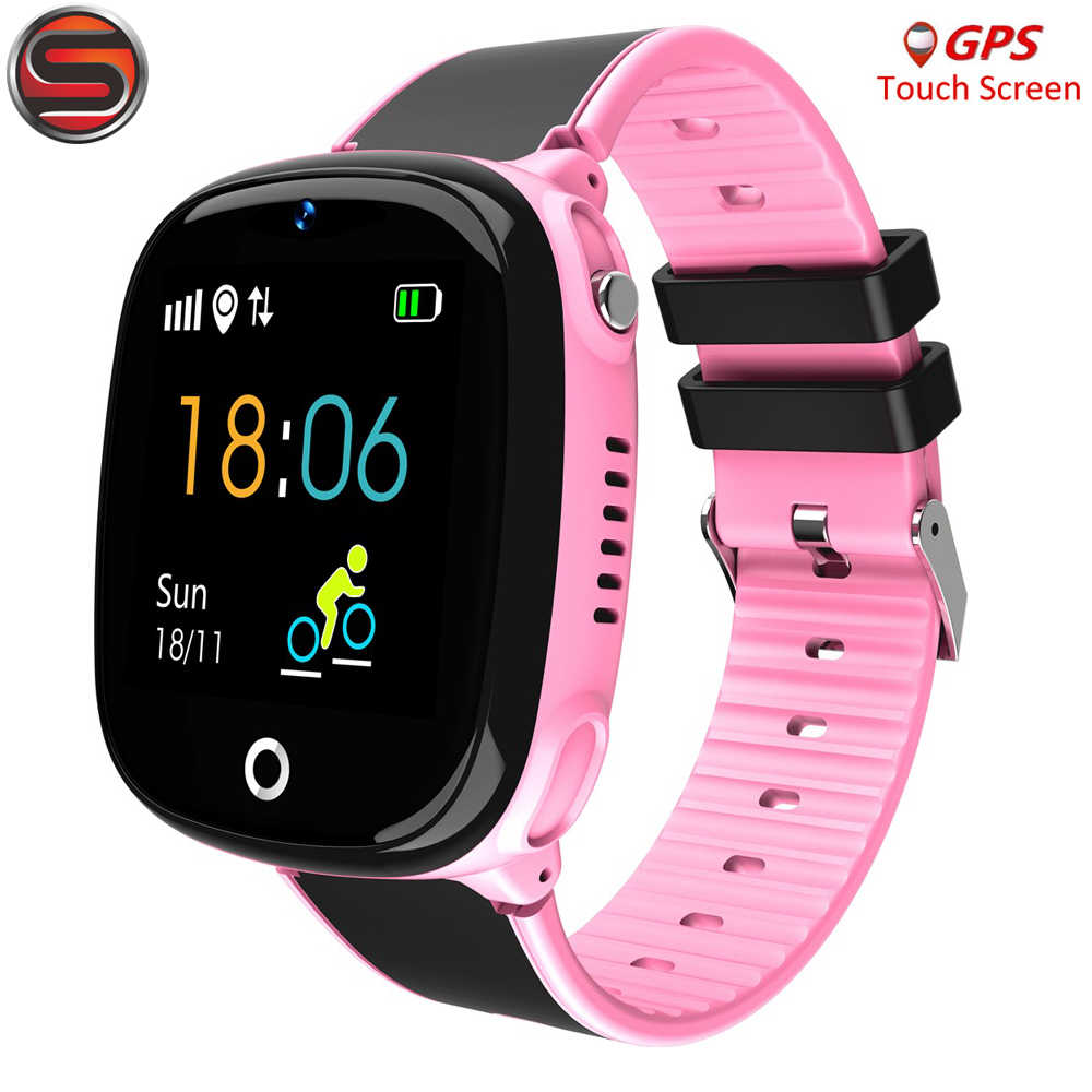 HW11 Anti Lost Child GPS Tracker SOS Smart Monitoring Positioning Phone Kids GPS Baby Watch Compatible IOS & Android G53