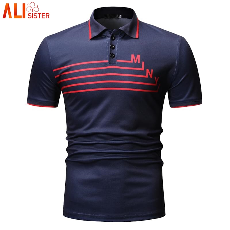 Fashion Summer   Polo   Shirt Men Casual Short Sleeve Slim Fit Tops Homme Camisa Business Clothing Plus Size M-XXXL   Polo   Shirts