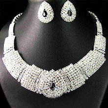 Jewelry-Set Necklace Earrings Diamante African-Beads Nigerian Crystal Wedding-Party-Bisuteria