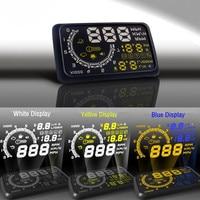Arrive Car OBD Vehicle Driving Computer Car Fuel Consumption / Speed / Water Temperature 3 Colors HUD Head Up Display