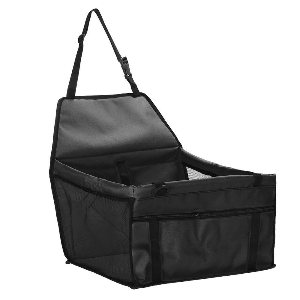 Vehemo Oxford тканевая переноска сумка для домашних животных автомобильное безопасное сиденье для домашних животных безопасное сиденье Водонепроницаемый Креативный моющийся подвесное сиденье корзина - Название цвета: Черный
