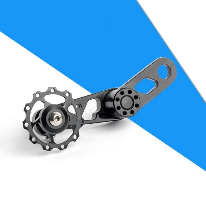 Велосипедный односкоростной натяжитель цепи из алюминиевого сплава 120x54 мм, замена велосипедной цепи MTB, предотвращающая падение цепи