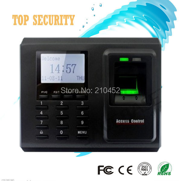 TCP/IP fingerprint access control door access control with time attendance F2 fingerprint reader optional card reader j voice prompt biometric fingerprint reader tcp ip rs485 access control pin code em card reader built in door lock attendance