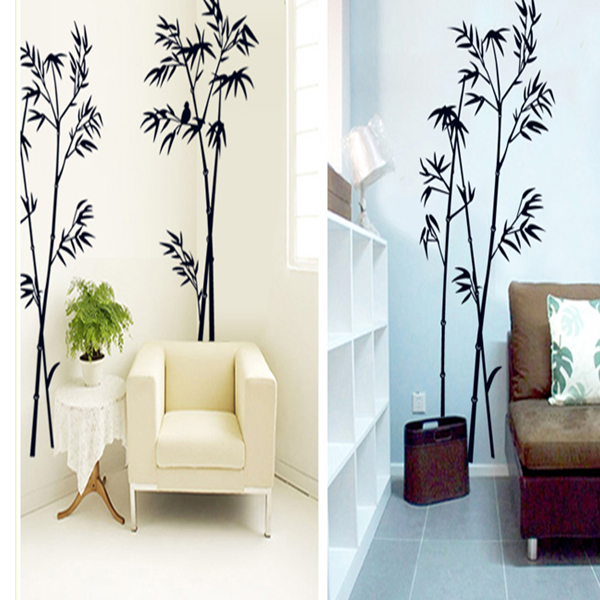 The New Black Bamboo Sitting Room Bedroom Home Decoration Vinyl Wall Stickers In The Wall To Stick on The Wall Mural Art Poster