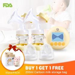 Bomba de carga USB Extractor eléctrico Extractor de leche materna con modo de masaje BPA pantalla LCD sin bomba de lactancia