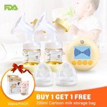 USB Şarj Çift Pompası Meme Elektrik Çıkarıcı Anne Sütü Pompaları Masaj Modu BPA Ücretsiz lcd ekran Emzirme Pompası