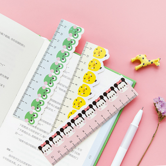 Attractive Bookmarks For Books Part - 3: 6 Set/Lot Rulers Book Markers Paper Bookmarks For Books Cute Animal  Stationery Office Accessories
