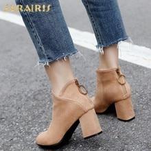 SARAIRIS 32-45 Adicionar Inverno Botas De Pele de Tamanho Grande Sapatos de  Mulher Tornozelo f28cd2a945e8a