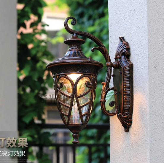 European Wall lamp LED Outdoor Wall Sconce Lighting Waterproof Garden Wall Lights Fixtures Aluminum Glass Retro PorchLights retro outdoor wall sconce lighting balcony led wall lamp waterproof garden wall light fixtures metal glass porch lights