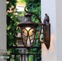European Wall lamp LED Outdoor Wall Sconce Lighting Waterproof Garden Wall Lights Fixtures Aluminum Glass Retro PorchLights