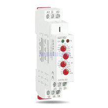 GRT8 S 4 düğmeler ayarlanabilir AC220V 16A AC/DC12V 240V tekrar röle SPDT zamanlayıcı elektrik koruyucu asimetrik döngü zaman rölesi