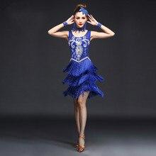 Latin Dance Costumes Women Salsa Dancewear Dance Costume Dresses Ballroom Competition Dresses Tango Adult Fringe Latin Dress
