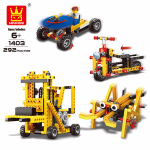 Image 3 - WANGE 4 in 1 Electronic Power Machinery Blocks DIY Creative Blocks Racing Car Toys Educational Building Block Toys for Children