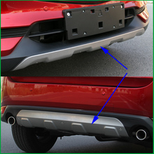 For Mazda CX-5 CX5 2017 2018 Stainless Steel Front + Rear Bumper Skid Protective plate Guard Board Cover Trim 2 PCS Car Styling