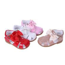 Pettigirl Summer Baby Girl Shoes Four Colors Princess Girls Sandals Infant Shoes With Bownot Children Shoes US Size A KSG005 01