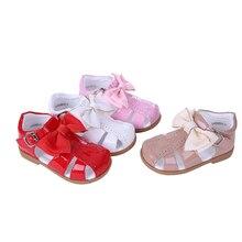 """Pettigirl קיץ תינוקת נעלי ארבעה צבעים נסיכת בנות סנדלי תינוק נעליים עם Bownot ילדי נעלי גודל ארה""""ב A KSG005 01"""