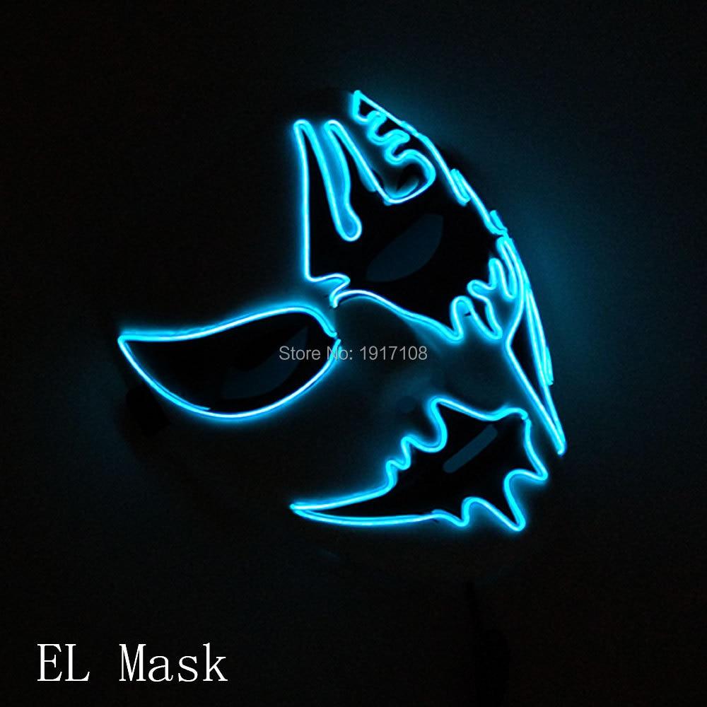 Großhandel 10 stücke halloween Maske 10 farben Wählen Cosplay Leuchten LED Maskentanz DJ Bar Nachtclub Für Parteidekoration - 3