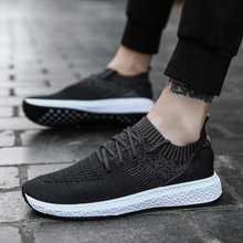 2019 Casual Shoes Men Flat Sneakers Breathable Fashion Mesh Mens Trainers Shoes Summer Sneakers Men Running Shoes Big Size 45
