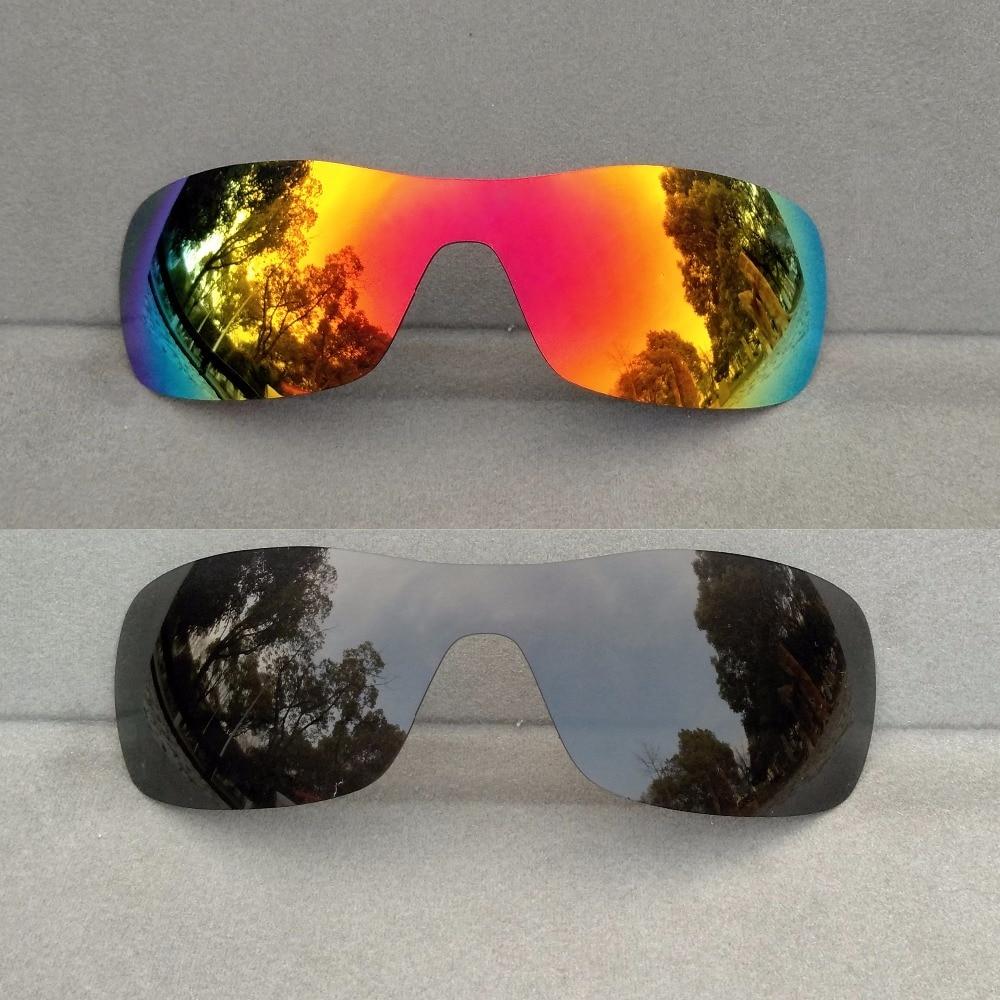 e595343bbcf Black   Orange Red Mirrored Polarized Replacement Lenses for Antix Frame  100% UVA   UVB