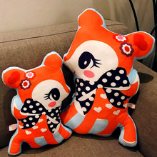 40/55cm Nordic wind plush toy plum deer dolls pillow double-sided printing sika living room sofa decoration baby toys gifts
