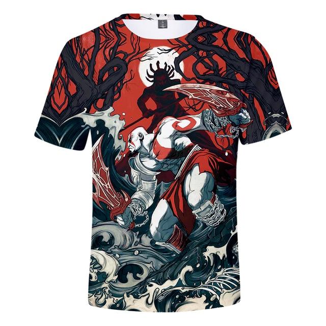 God Of War 3D Design T-Shirt Men Women O-Neck Summer Tshirt Hot Game T Shirts Tops Camisetas Clothing 4