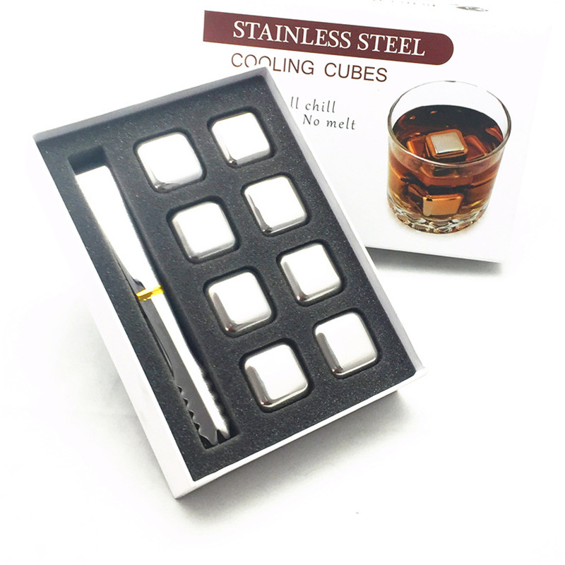 304 stainless steel ice wine whisky coolers stone with gift box 21