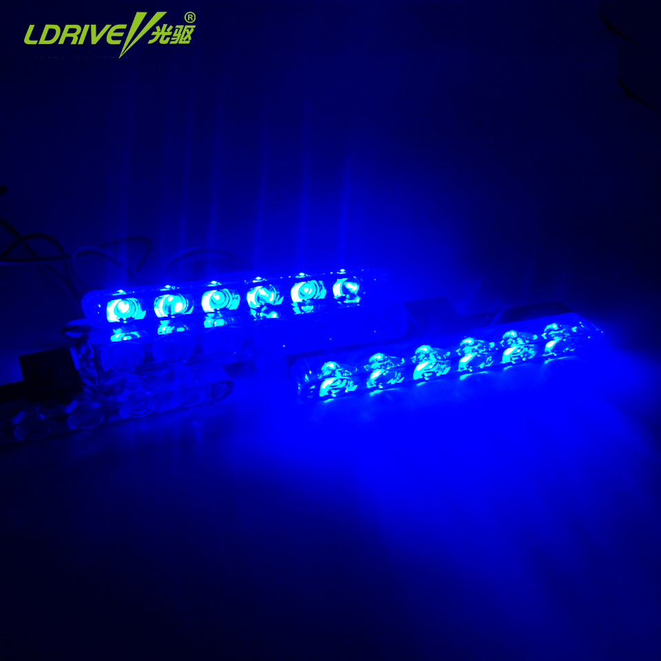 4Pcs/Lot 12V 10W Red Blue White Car Truck Led Strobe Light Bar Car Warning Light Emergency Strobe Flashing Lights Safety Lamp