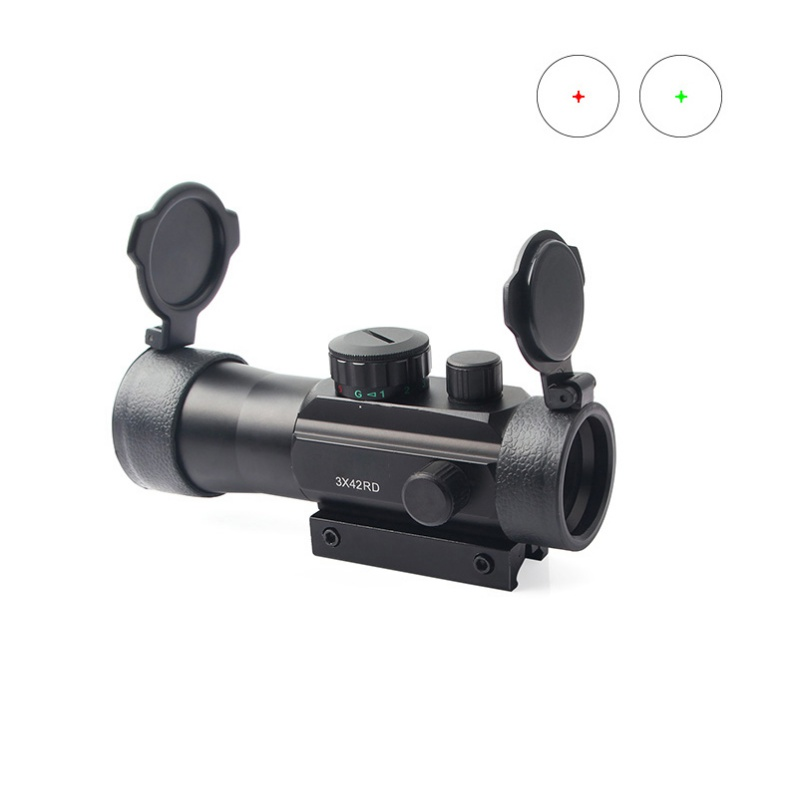 3X42RD Red Green Dot Sight Tactical Optics Sight Fit Picatinny Rail Mount 20mm 11mm Riflescopes for Hunting3X42RD Red Green Dot Sight Tactical Optics Sight Fit Picatinny Rail Mount 20mm 11mm Riflescopes for Hunting