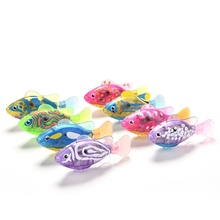 Holiday Gift Electronic Fish Robofish Activated font b Battery b font Powered Robo Fish Toy Childen