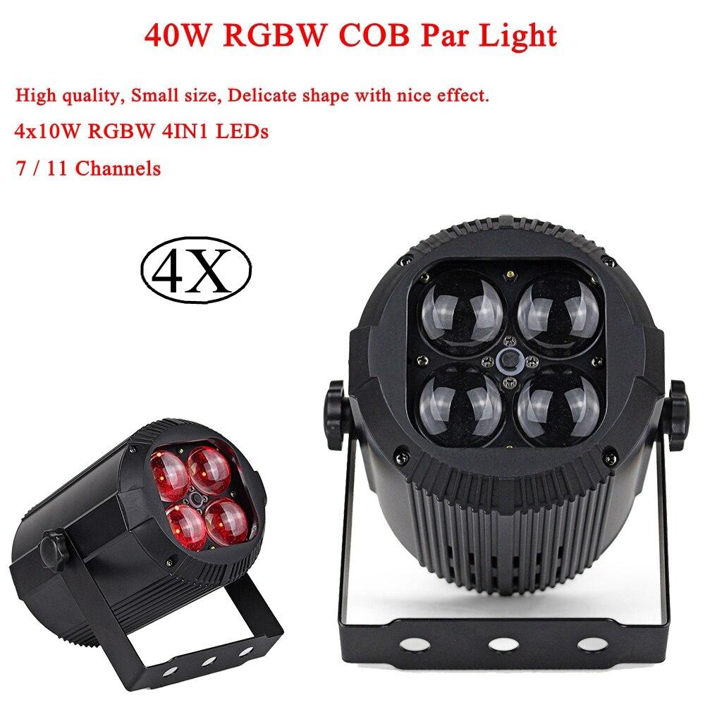 4 Pcs/Lot LED Lumières 40 W RGBW 4IN1 lumière LED Avec 12 pièces RVB 3IN1 SMD 5050 LED s L'étape DJ Lumière Disco DMX LED Par Lumières de Fête
