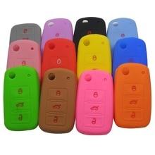 Remote 3 Buttons Folding Fild Silicone Car Key Cover Case Fob For VW Golf Bora Jetta POLO Passat