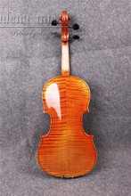 Flame Maple Acoustic Violin 4/4 Powerful Sound Spruce Top Fine Hand made #2051