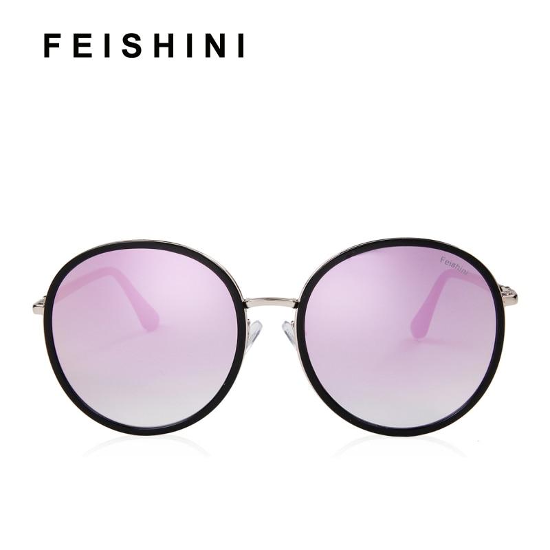Feishini marca diseñador plástico Marcos oval Gafas de sol ...