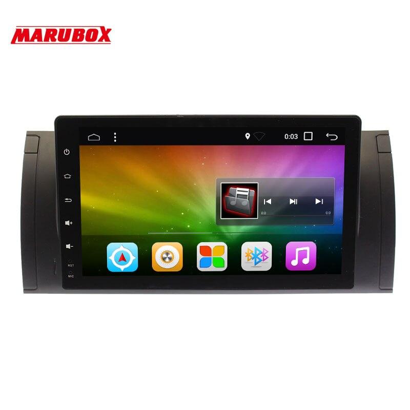 Marubox 9A901DT8 Voiture Multimédia pour BMW E53 X5 00-06/E39 96-03 Android 8.1 2g RAM 32g ROM GPS Navi 9 Pouces avec BT/RDS/Radio