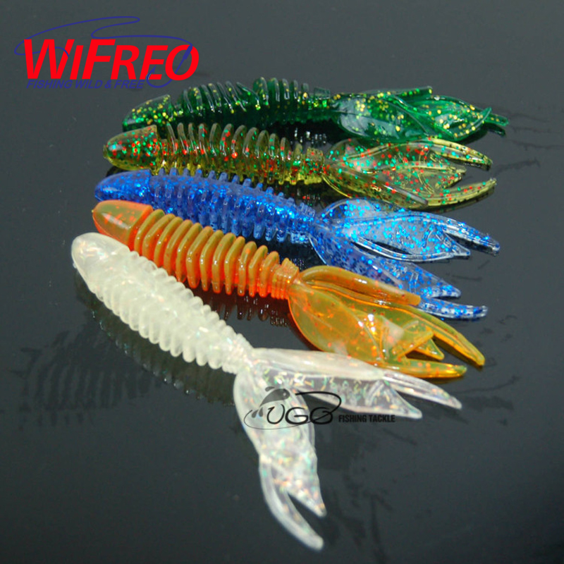 [5PCS/Lot] 10cm / 7.8g Soft Lure For Texas Rig Sea Bass Fishing New Big Tail Skeleton Lures Fishing Bait Fish Hot Sale fishing lure 5pcs lot 2 9g 115mm multi tail soft lure worm curly tail grub freshwater sea bass bait minnow quality professional