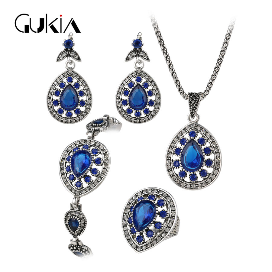 bracelet and earrings sets gukin 4 pcs jewelry sets silver plating vintage 5047