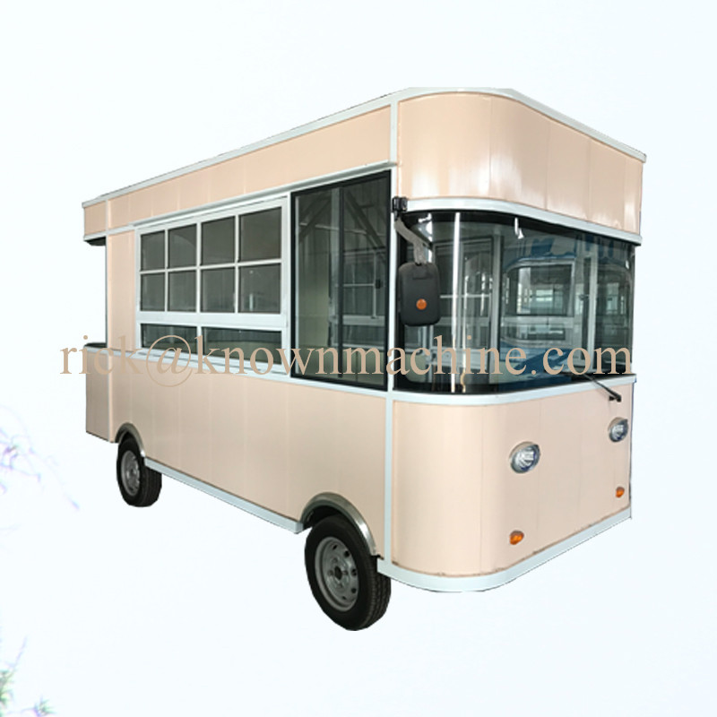 The best sale factory price electric mobile food truck moving dining cart outdoor street tourist car with free shipping