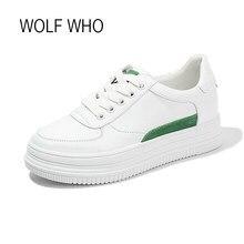 09b2ebf85 LOBO QUE 2018 Mulheres Brancas Tênis de Plataforma de Sola Grossa Krasovki  Flatform Senhoras Sapatos Femininos Mulheres Sapatos .