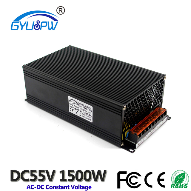 Switching power supply dc 55V 27.3A 1500W Led Driver Transformer 110-220v AC-dc 55v SMPS for LED Strip Light CNC CCTV Stepper