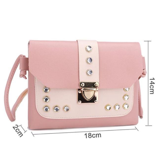 Color Panelled Mini Women Shoulder Bags  5