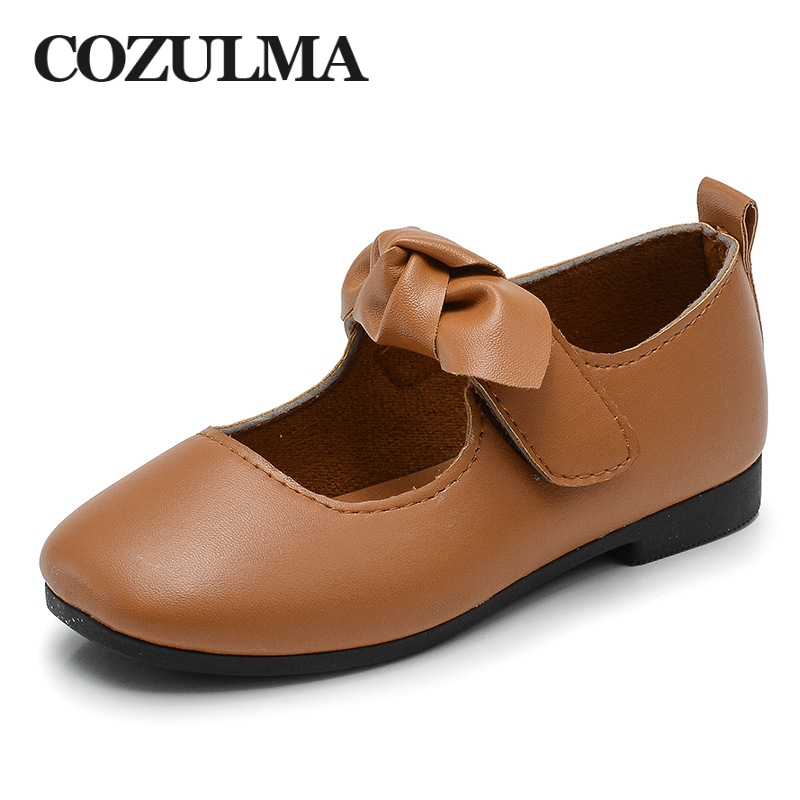 COZULMA Kids Casual Shoes Sneakers Girl Bow Mary Jane Shoe Baby Toddler Children Princess Strap Flats Girl Dance Party Shoes