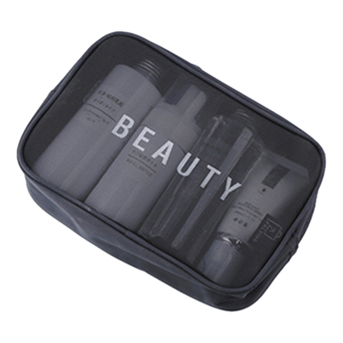 Aresland Transparent Waterproof Cosmetic Bag Clear Travel Women Makeup Storage Pounch Bags LadIes Make Up Toiletry Bag Black ...