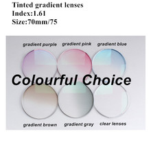 Myopia Anti-uv 1.61 Tinted Colou Eyeglasses Lenses Quality Dyeing Gradient Lens,Filling Prescription EV1266 myopia tinted film eyeglass sunglasses lenses color dyed sheet gradient resin lenses large diameter custom prescription lenses