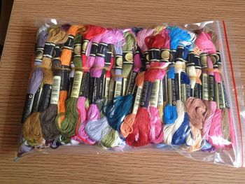 8TH JCS Free shipment  Similar DMC threads 447 Pieces Embroidery Cross Stitch Floss Thread 6 Strand YOUR COLOR
