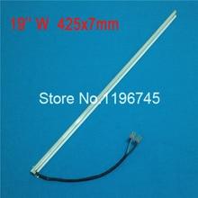 19 pouces large 425mm * 7mm Ccfl Lampes avec Cadre/titulaire Ensemble À Double lampes pour LCD moniteur Assemblage Du Panneau de L'écran 2 pcs