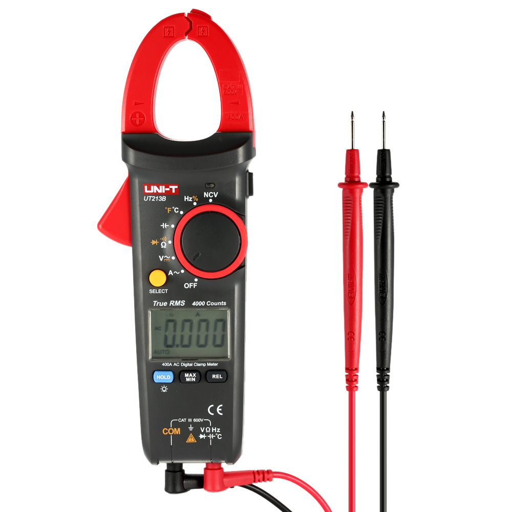 UNI-T UT213B Handheld Digital LCD Clamp Meter Multimeter DMM Resistance Capacitance NCV Temperature Tester Meter with Flashlight комплект навесных крючков 25 мм fbs universal хром uni 005