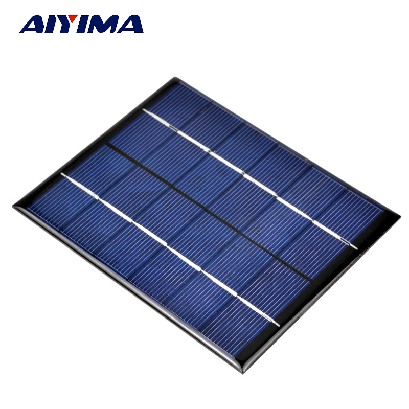 Aiyima Solar Panels China Painel Solar Poycrystalline Silicon For DIY Solar Cells Solar Lamp Light Charger 2W 6V 136*110MM