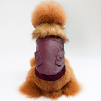 Wholesale Autumn And Winter Pet Clothes Dog Clothing Warm Cotton Coat Windproof Dog Leather Coat With