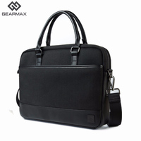 Gearmax Genuine Leather Bag Men 13 14 Inch Messenger Bags Briefcase Laptop Shoulder Bag Business Computer