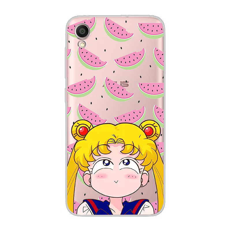 ciciber For ASUS ZenFone Live L1 V 3 GO Zoom S Soft TPU Phone Case For ASUS ZenFone MAX Lite Plus Pro M1 Sailor Moon Fundas Capa in Fitted Cases from Cellphones Telecommunications